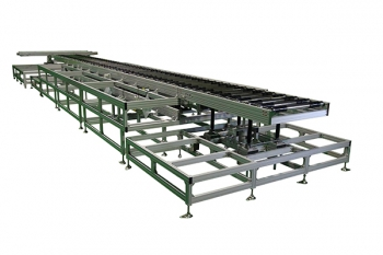 roller conveyor system for glass