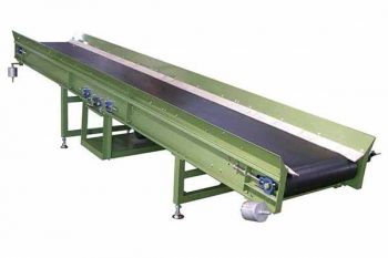 Heavy duty inclined belt conveyor