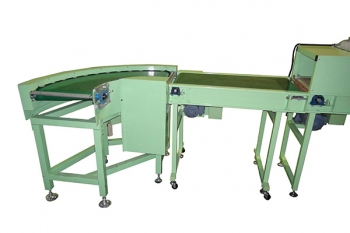 curve type belt conveyor