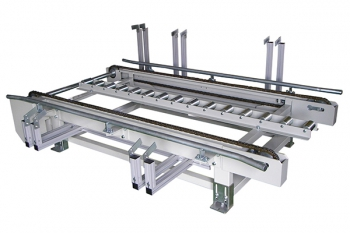 ouble strands chain conveyor + middle roller bases