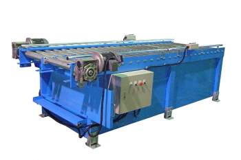 Double row roller conveyor