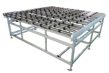 roller conveyor for glass