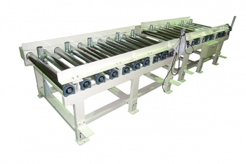 Roller conveyor for boxes