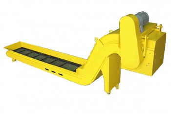 Steel belt chip conveyor (transport of chips, metalproducts)