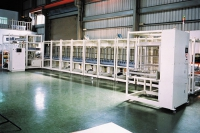 glass panel conveyor line