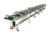 Edge belt conveyor