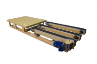Three rows belt conveyor
