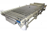 Roller conveyor + Hydraulic lifting platform