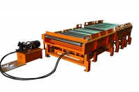 Heavy duty roller conveyor + Hydraulic-type transfer system