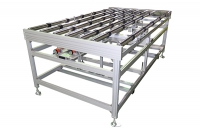 Roller conveyor + Adjustable pressure alignment