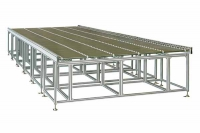 Roller conveyor for panel