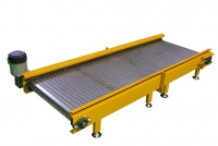 slat conveyor for scrap