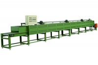 Mesh belt conveyor for mirror